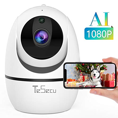 Tesecu Home WiFi Camera 1080p Security Camera Wireless IP Camera Baby Monitor Indoor Pet Dog, AI Human Detection, 2-Way Audio, Phone App, Pan/Tilt, Night Vision…