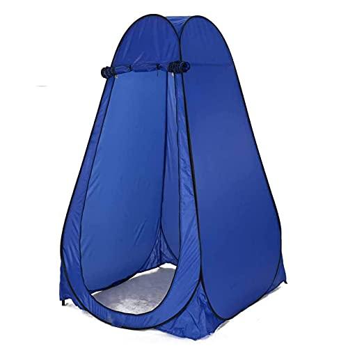 ALLWIN Tienda Privacidad De Ducha Emergente,Tienda De Baño Portátil para Acampar Tienda De Baño Cambiante Plegable,para Vestir El Refugio De Pesca para Acampar,con Bolsa,Azul