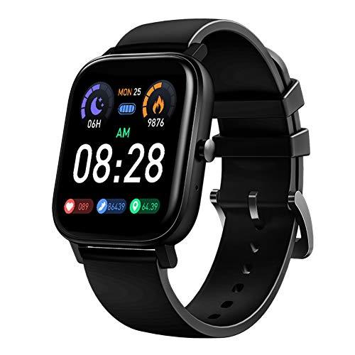 CYCPACK Relógio esportivo inteligente para homens e mulheres com monitor de frequência cardíaca, sono, contador de passos, relógio de pulso cardiovascular com resposta de chamada, armazenamento de 4 GB, leitor de música