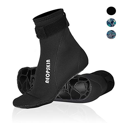 Neoprene Socks 3mm Beach Volleyball Sand Soccer Socks Water Booties Wet Shoes for Scuba Diving Swimming Surfing Snorkeling Fishing Wading Kayak (Black-High Cut, XL)