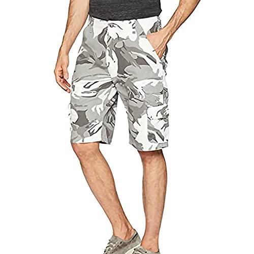 Herren Arbeitsshorts Camouflage Baumwolle Sommer Sport Shorts Mit Taschen Shorts Sind Leicht, Schnell Trocknend Und Bequem,A,XXL