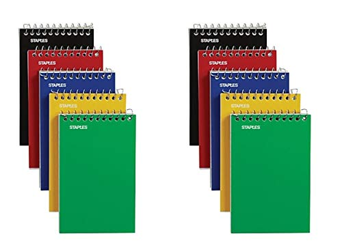 Staples Top Bound Memo Books, 3  x 5 , 10 Pack (10 Pack)