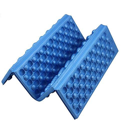 Esterilla de Yoga Fitness Plegable Plegable Espuma Impermeable Silla Cojín Asiento Almohadillas Estera Acampar Senderismo Entretenimiento Deportes Actividades al Aire Libre (Color : Blue)