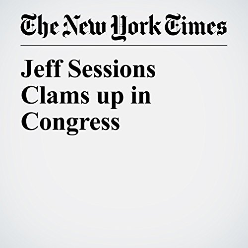 Jeff Sessions Clams up in Congress copertina