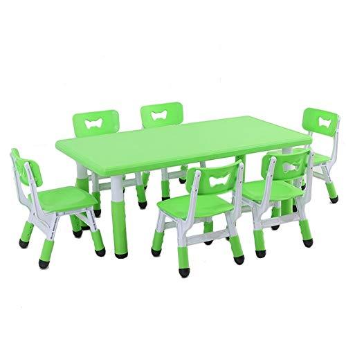 CHAXIA Chaise De Table Enfant Ensemble Multifonction Tables Élévatrices Apprentissage Jeu Tableau De Peinture Portant Fort, 4 Couleurs (Color : Green)