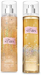 Bath and Body Works 2 Pack In The Stars Fine Fragrance Mist 8 oz. and Diamond Shimmer Mist 4.9 oz.