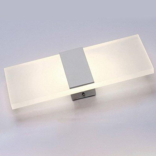 vrsupin0 Wandleuchte Druckknopf Weiche Helligkeit LED-Lampe Wohnzimmerleuchte Klaviertasten Universelle Nachtbeleuchtung Langlebiges Schlafzimmer Badezimmer Acryl(Weiß 14x6Weißes Rechts-Englisch)