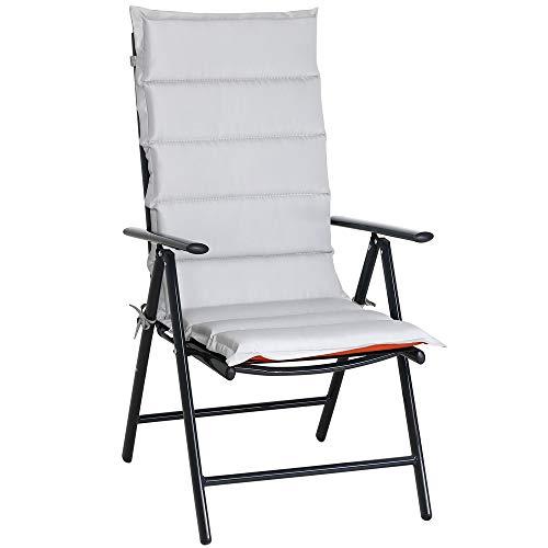 Detex 6x Chair Cushion 120x45x5cm Cushion High-Back Seat Pads Garden Reversible Patio Outdoor Comfortable Recliner