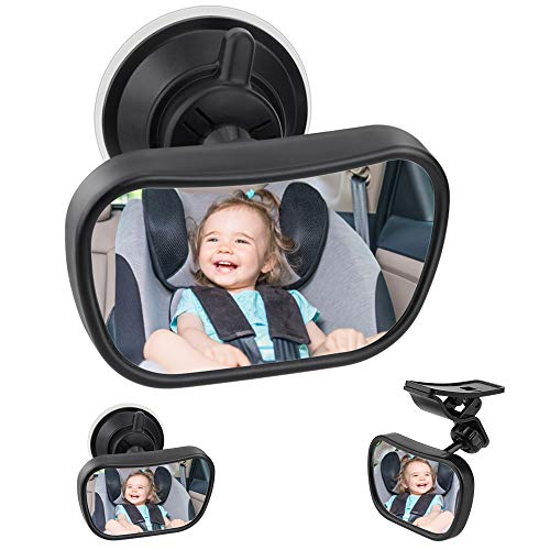 Bambino Vista Posteriore Specchio, hicoosee Specchietto Retrovisore Bambino,Specchio per Auto Sedile Posteriore Specchio, Specchio Auto Regolabile per Bambini Specchietto per Sedili Posteriori