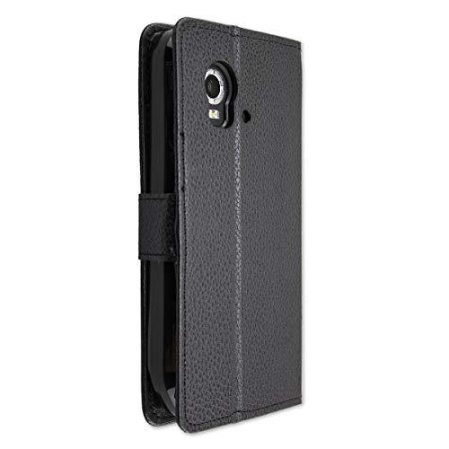 caseroxx Handy Hülle Tasche kompatibel mit Land Rover Explore Bookstyle-Case Wallet Case in schwarz