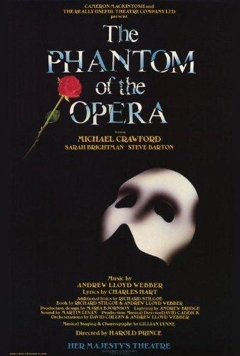 Yutirerly postersdepeliculas (27x40) Phantom of The Opera Broadway Poster