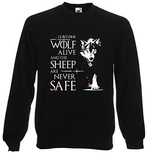 Viper Leave One Wolf Alive and The Sheep Are Never Safe Sweatshirt (Black, XL)