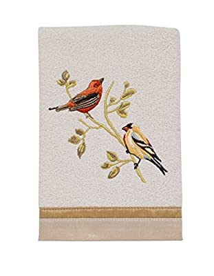Avanti Linens Gilded Birds Hand Towel, Ivory