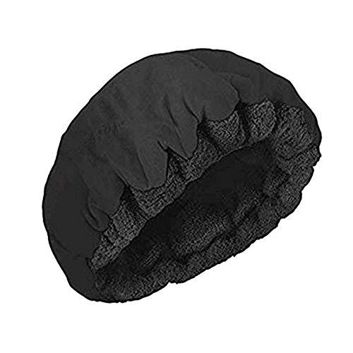 Bonnet Chauffant pour Soins Capillaires, Bonnet du Salon Auto Chauffant Cheveux pour Masque Charlotte Auto chauffante,Noir