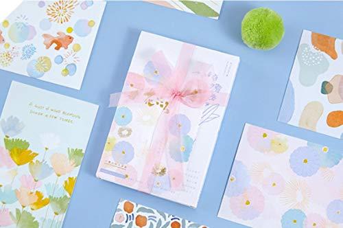 Miner 30st 1lot bloem brief serie wenskaarten ansichtkaarten verjaardag brief relatiegeschenk kaartenset berichtkaart, huaxin