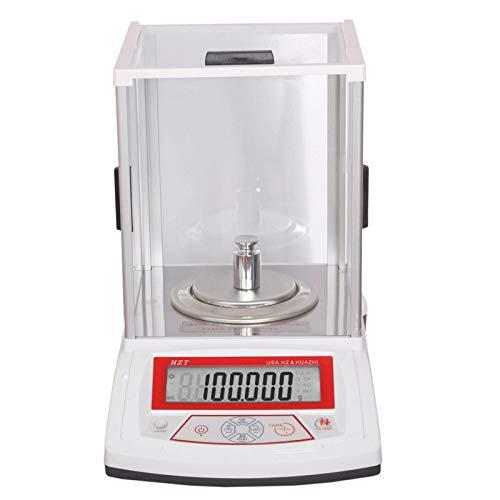 YZSHOUSE Alta Precisión 0.001g Digital Balanza Electrónica Laboratorio Análisis Balance Joyería Peso Balanza De Plataforma con 4 Unidades Y HD Diaplay, SQC (Size : 200g/0.01g)