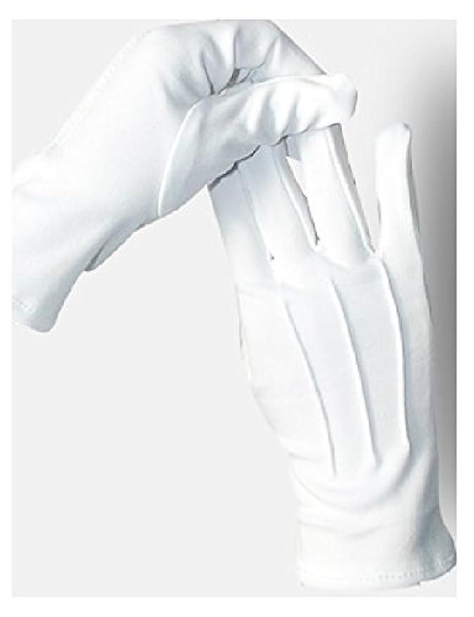 ダメージ報復フレッシュ5双セット ナイロン 手袋 白 婦人 紳士 水洗い可 スリット無し (紳士)