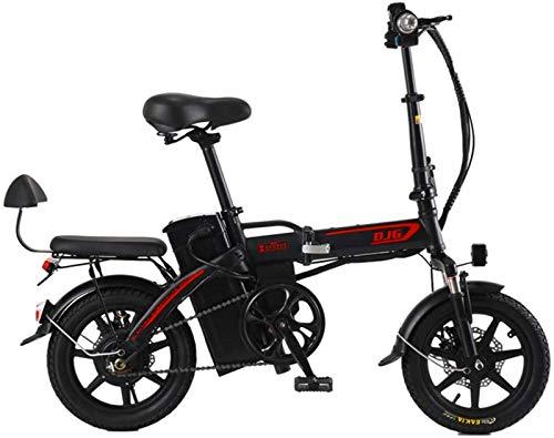 Bicicleta de montaña eléctrica, 14 pulgadas plegable bicicleta eléctrica 48V240w20ah puro eléctrico Resistencia 70 kilometros 80 km de aleación de aluminio que absorbe los golpes neumáticos sin cámara