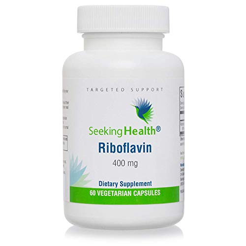 Seeking Health Riboflavin, 60 Capsules, Vitamin B2, Riboflavin 400 mg, Vegetarian- and Vegan-Friendly, 4 mg Active Riboflavin-5-Phosphate, Energy Supplement