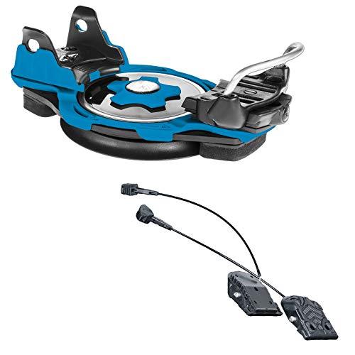 F2 INTEC TITANFLEX Snowboard PLATTENBINDUNG BINDUNG Blue GR. M + INTEC Adapter