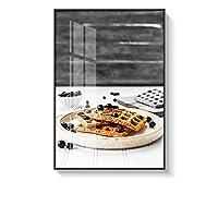 インテリア絵画 キャンバスの絵画の枠組みの寝室がモダンなキッチンをテーマにした白黒 寝室 (Color : A, Size : 40x60cm)