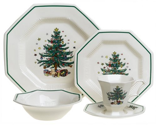 Nikko Ceramics Christmastime 5-Piece Dinnerware Place Setting, Service for 1