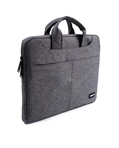 Yottamaster Laptoptasche für Damen & Herren, 13,3 Zoll (33,8 cm), wasserdicht, aus Polyester, mit verstellbarem Schultergurt, Grau