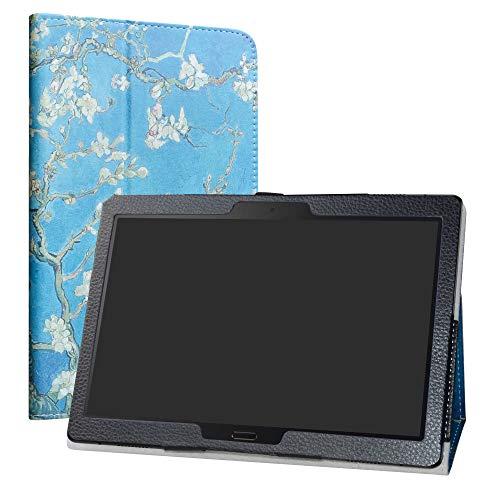 LiuShan Lenovo Smart Tab P10 / M10 hülle, Folding PU Leder Tasche Hülle Hülle mit Ständer für 10.1