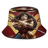Sombrero de Pescador Wonder-Woman, protección UV de Verano, Sombreros de Cubo de Viaje, Gorra de...