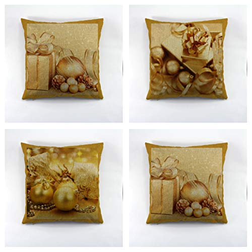 Christmas Decorative Cotton Cushion Cover For Sofa Throw Cushion Cover For Seat Chair