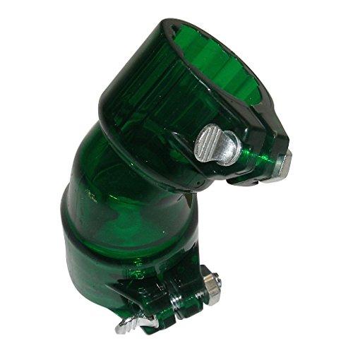 GREEN finger Locking Bent Feed neck Elbow Paintball Gun Loader VL JT Rev Hopper tinted GXG angled