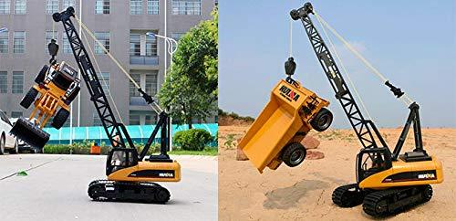 RC Baufahrzeug kaufen Baufahrzeug Bild 1: s-idee® S1572 Rc Kranwagen Bagger mit Ketten Licht Sound Metallbauteile 15 Kanal 1:14 mit 2,4 GHz Kran Huina 1572*