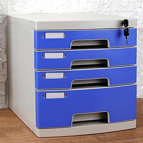 Gabinete de Archivo de Escritorio de Oficina, Caja de Almacenamiento de plástico Tipo cajón, gabinete de Almacenamiento con 4 cajones, Muy Adecuado para presentar y organizar Documentos de Papel