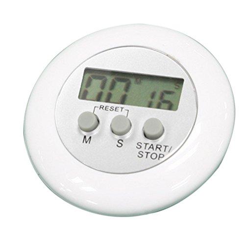 PIXNOR Numérique de minuterie de cuisine cuisson minuteur avec alarme puissante (blanc)