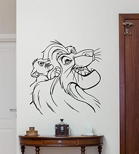 Roi Lion Stickers Dessins Animés Autocollant Simba Nursery Wall Decor Enfants Chambre de Bébé Mur Art Décor À La Maison