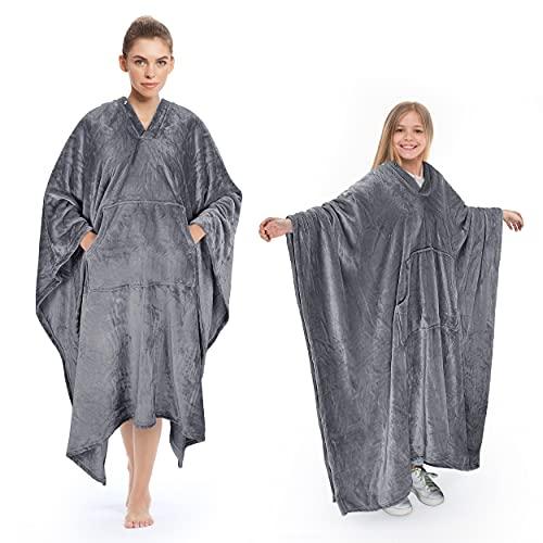 Poncho Blanket Super Soft...