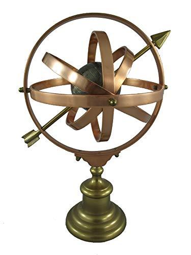 Gremegro Sonnenuhr Armillarsphäre Weltmaschine Metall H:50x35x29cm, Dekoration, astronomisch, Tischdekoration