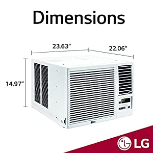 LG 12,000 BTU 230V Window-Mounted AIR Conditioner with 11,200 BTU Heat Function