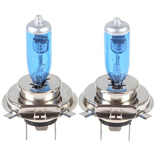 Super Bright 100W 6000K White12V Headlight Bulb 2x H4 Halogen Xenon Light