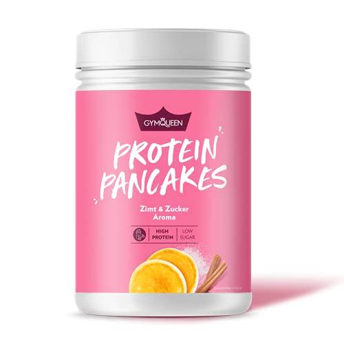 GymQueen Protein-Pancake Backmischung Zimt & Zucker 500g, Proteinreicher Pancake Mix, Pfannkuchen Pulver für deine Extraportion Eiweiss, schnelle und einfache Zubereitung, zuckerreduziert