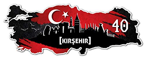 Aufkleber Sticker Türkei 40 Kirsehir Motiv Fahne für Auto Motorrad Laptop Fahrrad