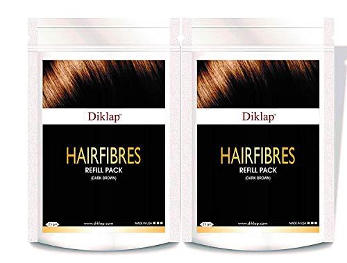Diklap Hair Building Fiber Refill Pack 25Gm (Hair Concealer) Dark Brown Pack Of 2 (50 gm) Use For Caboki, Toppik, Looks 21,Rebuild Hair Fiber etc.