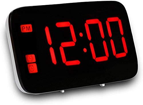 unknow Multi-Funktions-Lade Kluger Wecker Batterie getimten Sprachaktivierte LED-Leuchten Snooze Desktop Desktop Clock Informationen Clock