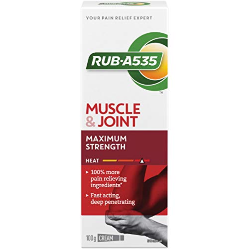 Rub-A535 Muscle & Joint Pain Relieving Heat Cream, Maximum Strength, 100-g
