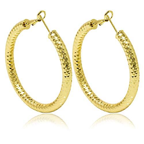 inSCINTILLE Pendientes de aro para mujer chapados en oro o plata dorado