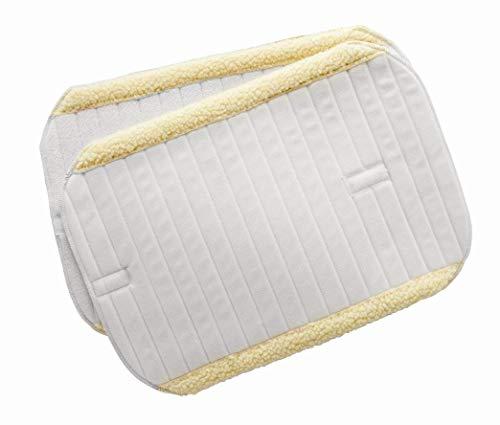 Bandagierunterlagen m. Kunstfellrand, 2er Set, weiß, 35x35 cm