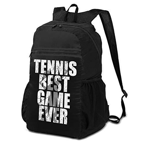 Tennis Best Game Lightweight Foldable Travel Backpack& Hiking Backpack
