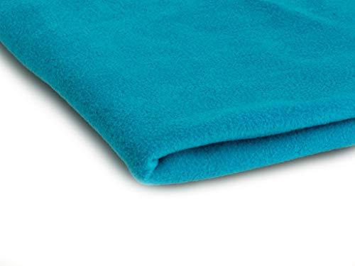 Telas Polar tela de lana, prendas de punto 200 g/m² - Disponible en una variedad de colores - 50 x 160 cm (Turquesa)