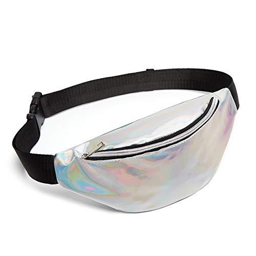 Bolsas al Aire Libre Bolso de Hombro láser de la Bolsa de Punk Bolsa de lgmin multifunción (Plata) Exquisita Moda (Color : Silver)