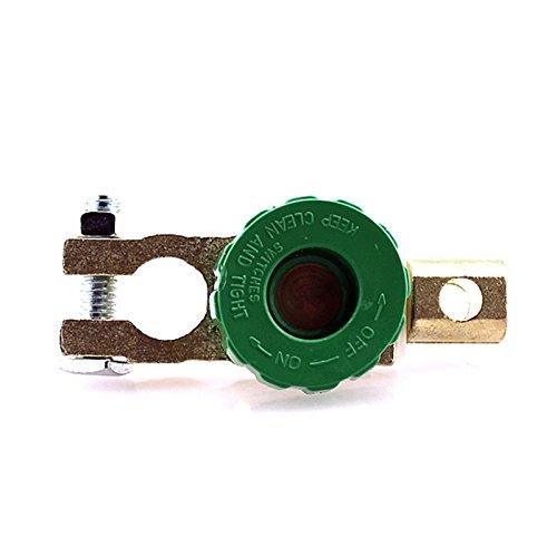BEESCLOVER de Voiture Moto Batterie Terminal Link Quick Interrupteur d'arrêt Rotatif Déconnecter Isolateur de Voiture Truck pièces d'Auto véhicule Vert Vert